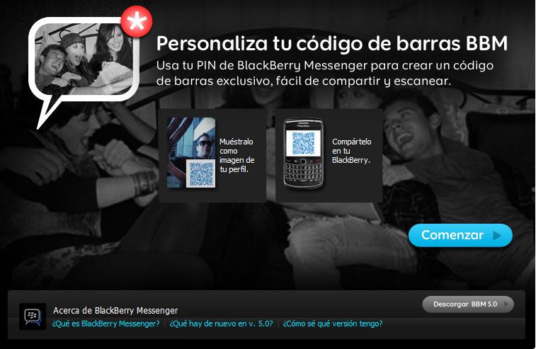 Personaliza tu codigo BB para compartir