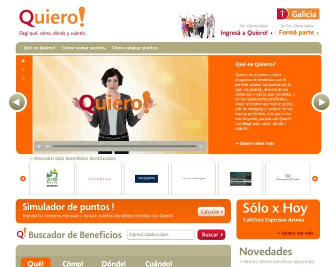 """""""Quiero!"""" – Banco Galicia"""