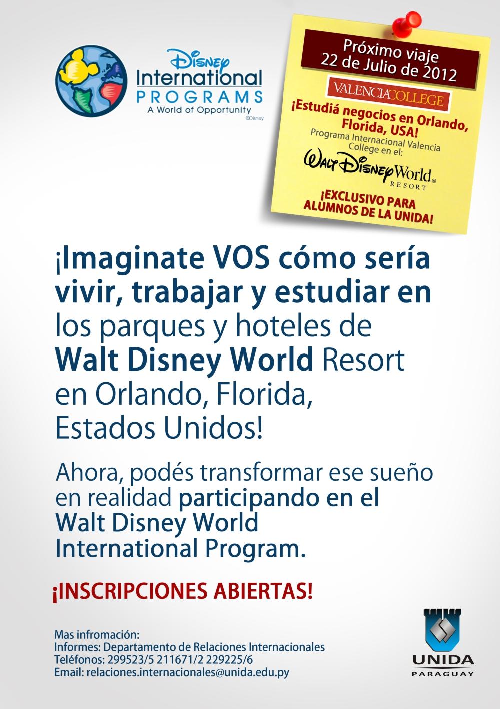 Disney mailing  mail  - UNIDA