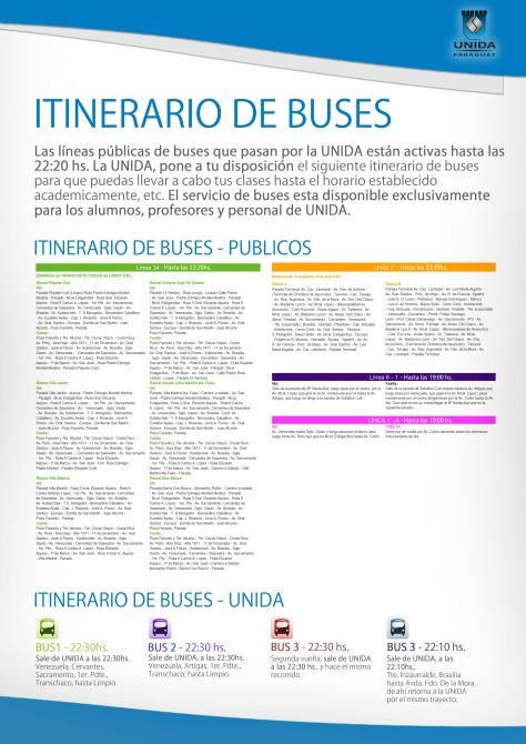 Itinerario BUSES