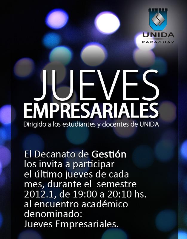 Afiche Jueves Empresariales - UNIDA