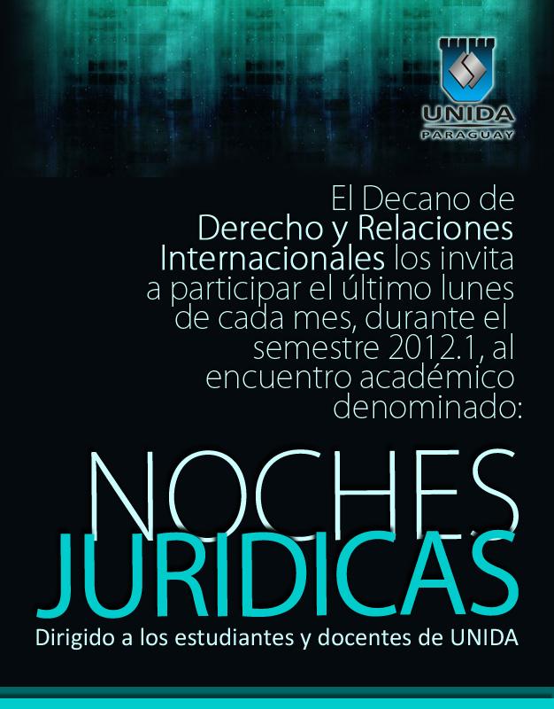 Afiche Lunes juridicos - UNIDA