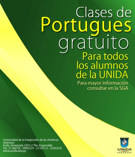 Portugues Gratis - UNIDA afiche