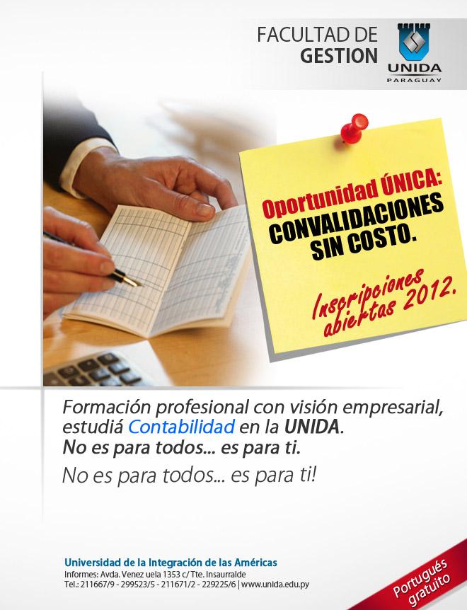Mail - Carrera de Contabilidad - convalidacion +  inscripciones abiertas universidad UNIDA