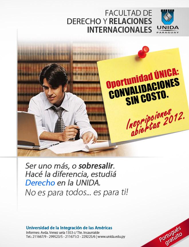 Mail - Carrera de Derecho - convalidacion +  inscripciones abiertas universidad UNIDA