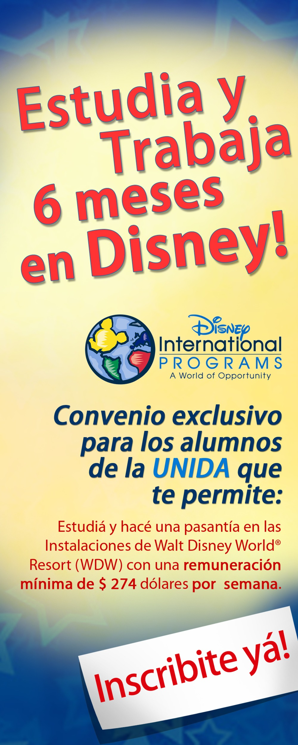 Disney Banner Universidad UNIDA