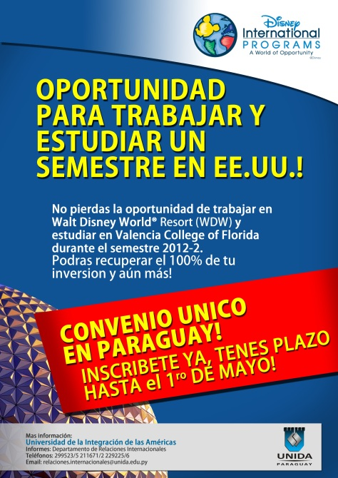 Disney Afiche Universidad UNIDA