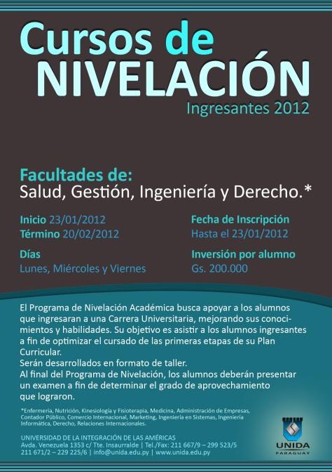 Taller de Nivelacion - 2012 Universidad UNIDA