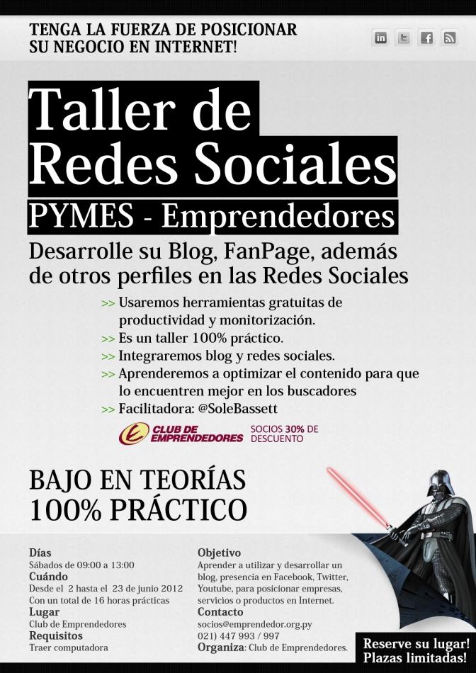 Taller de Redes Sociales // PYMES – Emprendedores