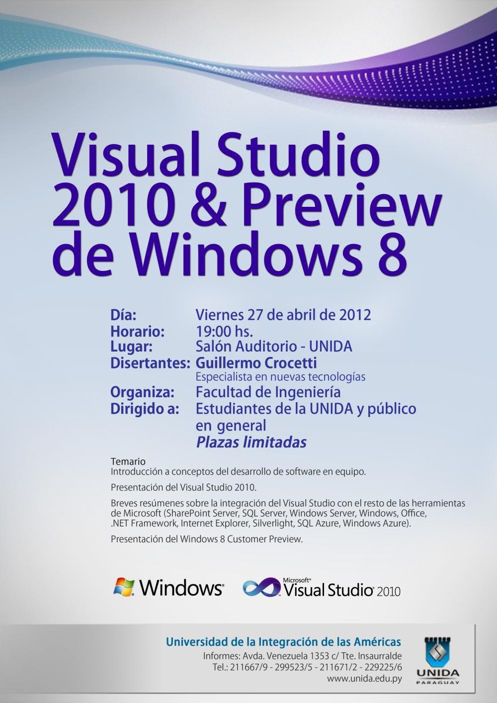 Visual Studio 2010 & Preview de Windows 8 copia