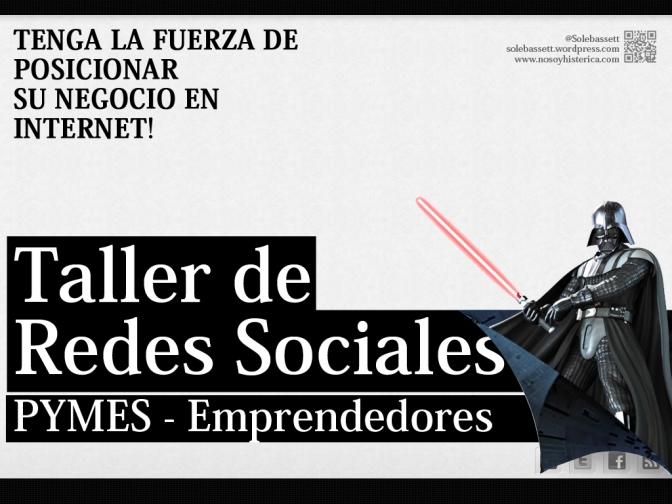 Taller de Redes Sociales – YA ESTAMOS ACA!